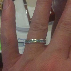 Aqua marine eternity ring from JTV size 8